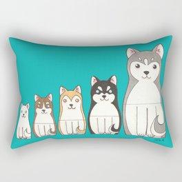 Matryoshka Husky Rectangular Pillow