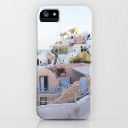 Dusk in Santorini, Greece iPhone Case