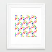 pixel Framed Art Prints featuring Pixel by AJJ ▲ Angela Jane Johnston