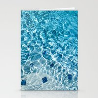 pool Stationery Cards featuring Pool by Britt Mansouri