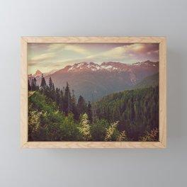 Mountain Sunset Bliss - Nature Photography Framed Mini Art Print