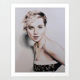 Jennifer Lawrence Drawing Art Print