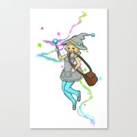 magical girl Canvas Prints featuring Magical Girl by CombatantCucumbers