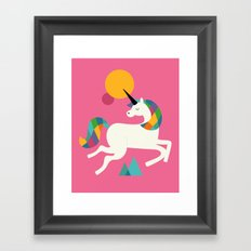 To be a unicorn Framed Art Print