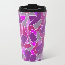 purple shapes Travel Mug