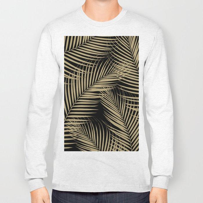 Palm Leaves - Gold Cali Vibes #2 #tropical #decor #art #society6 Long Sleeve T-shirt
