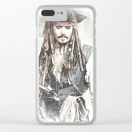Cpt. Jack Sparrow 2 Clear iPhone Case