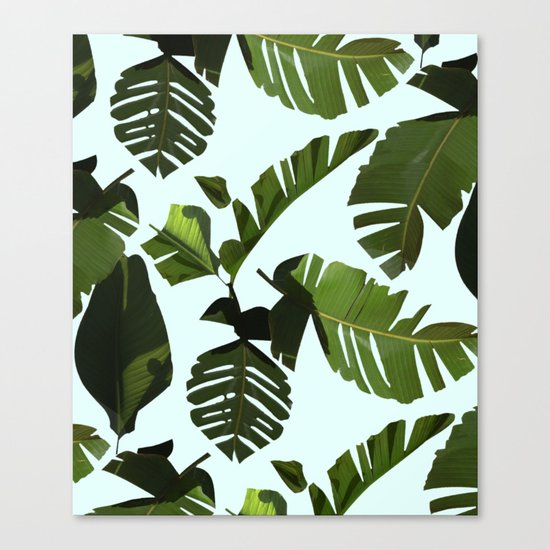 Palm Pattern Canvas Print
