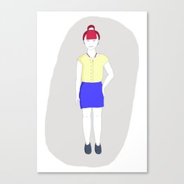 17-year-old girl Canvas Print