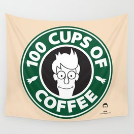 100 Cups of Coffee Wall Tapestry