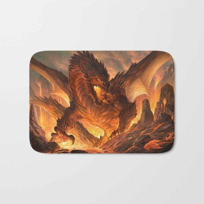 Red Dragon Bath Mat