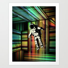 Trapped in Multiple Time Dimension Art Print