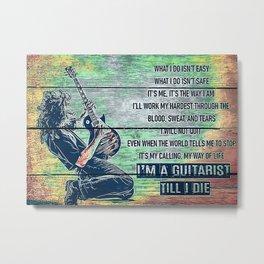 Guitar Guitar Poster Metal Print