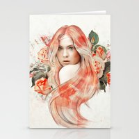 karen Stationery Cards featuring Karen Gillan by jassinta