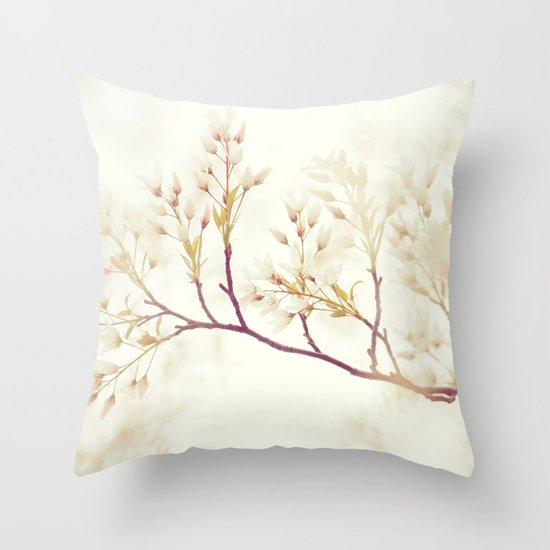 Soft Down Throw Pillows : Soft Spring Whisper Throw Pillow by Shilpa Society6