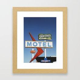 Western Motel Print Framed Art Print