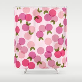 Fruit Pattern - Pink Shower Curtain