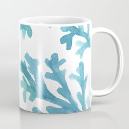 Blue Ombre Coral Coffee Mug