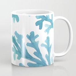 Blue Ombre Coral Coffee Mug