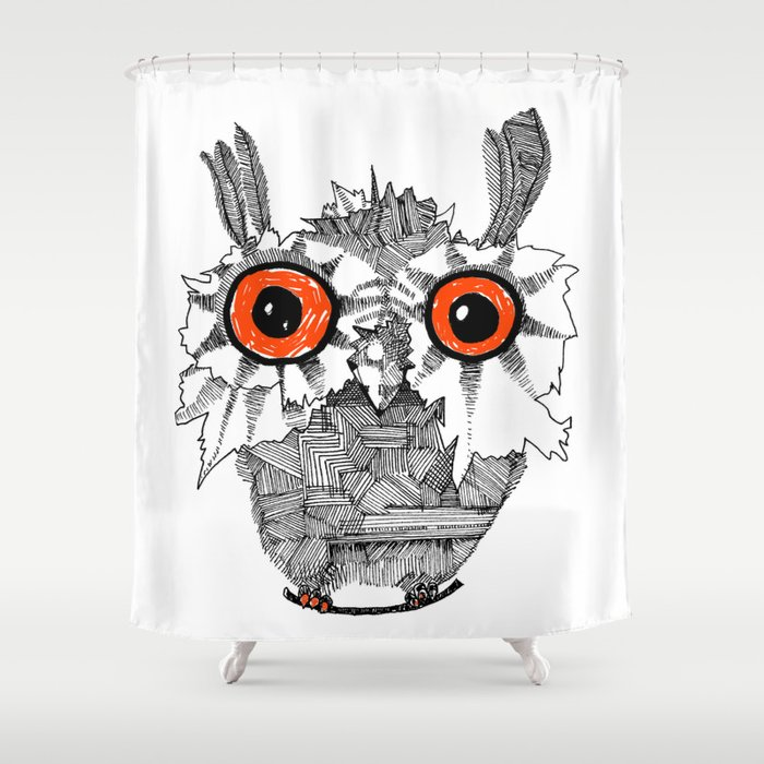 Small Owl Shower Curtain