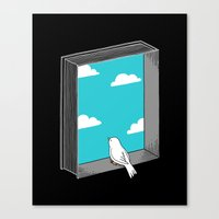 ilovedoodle Canvas Prints featuring Every book a window by I Love Doodle