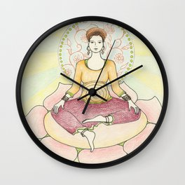 Centered in Peace Wall Clock