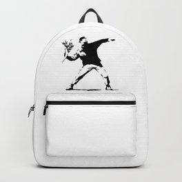 Rage, Flower Thrower - Banksy Backpack