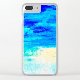 Blue Skies in Florida #4 Clear iPhone Case