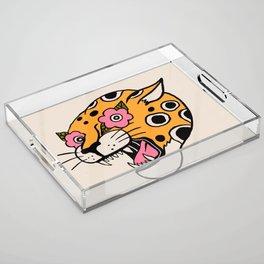 Cheetah Acrylic Tray