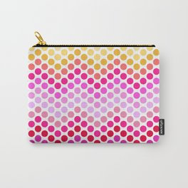 Dot Chevron: Red Pinks Carry-All Pouch