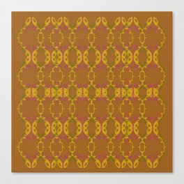 Luxury ornaments vint. brown gold Canvas Print