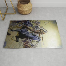 """William Leigh Western Art """"Custer's Last Stand"""" Rug"""
