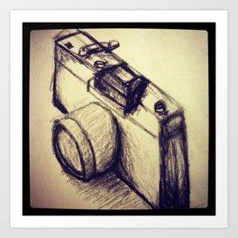 Camera Sketch Art Print