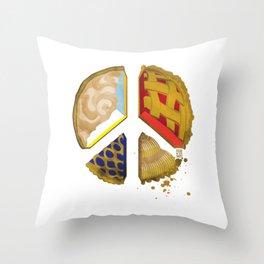 Pie of peace Throw Pillow