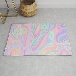 Liquid Colorful Abstract Rainbow Paint Rug