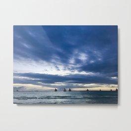 Boracay sailing Metal Print