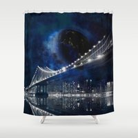 new york city Shower Curtains featuring New!! New York City by Simone Gatterwe