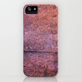 Rusty Iron Sheet found on an abandoned Gold Mine in California. USA iPhone Case