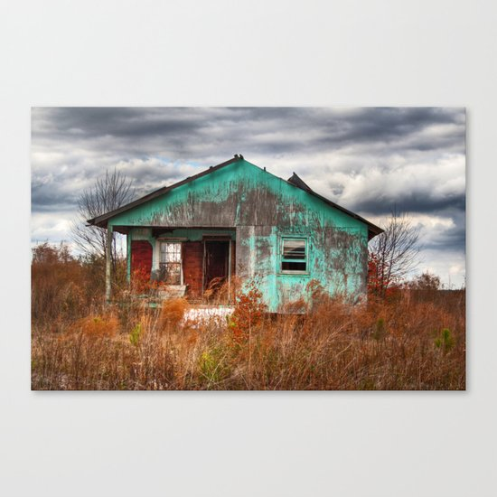 Lonely Old House on the Hill 2 Canvas Print