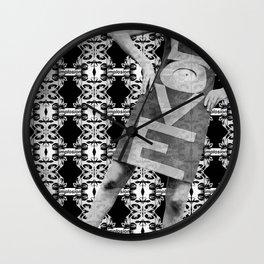 LOVE implosion #9 Wall Clock