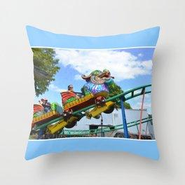 Chinese Dragon ride  5 Throw Pillow