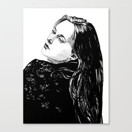 Lace Portrait T. Canvas Print