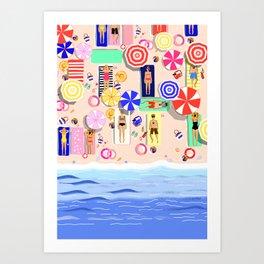 Beach Holiday Art Print