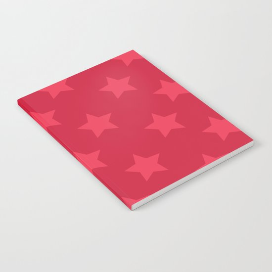 Red stars Notebook