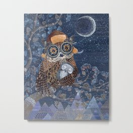 Owl mother Metal Print