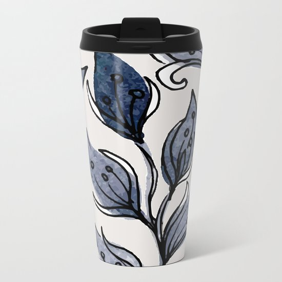 pattern 077 Metal Travel Mug
