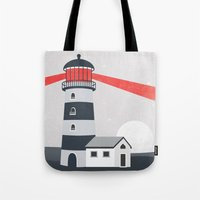 lighthouse Tote Bags featuring Lighthouse by Mila Spasova