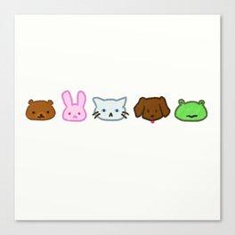 Crayon Animals Canvas Print