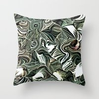 novelty Throw Pillows featuring Octopod Party by Moody Muse