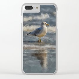 Seagull By The Seashore Clear iPhone Case